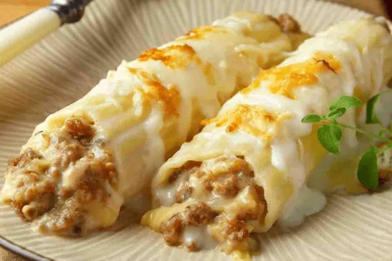 cannelloni con salsiccia e provola