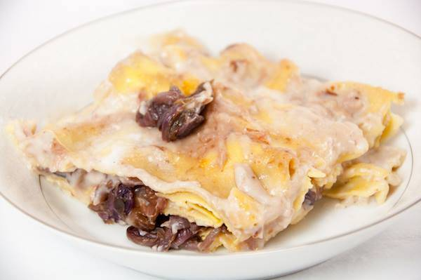 Lasagne di Pane Carasau con Radicchio e Scamorza
