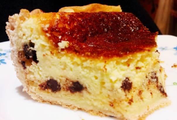 torta della nonna ricotta e cioccolato