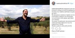 La risposta di Salvini al post della Isoardi