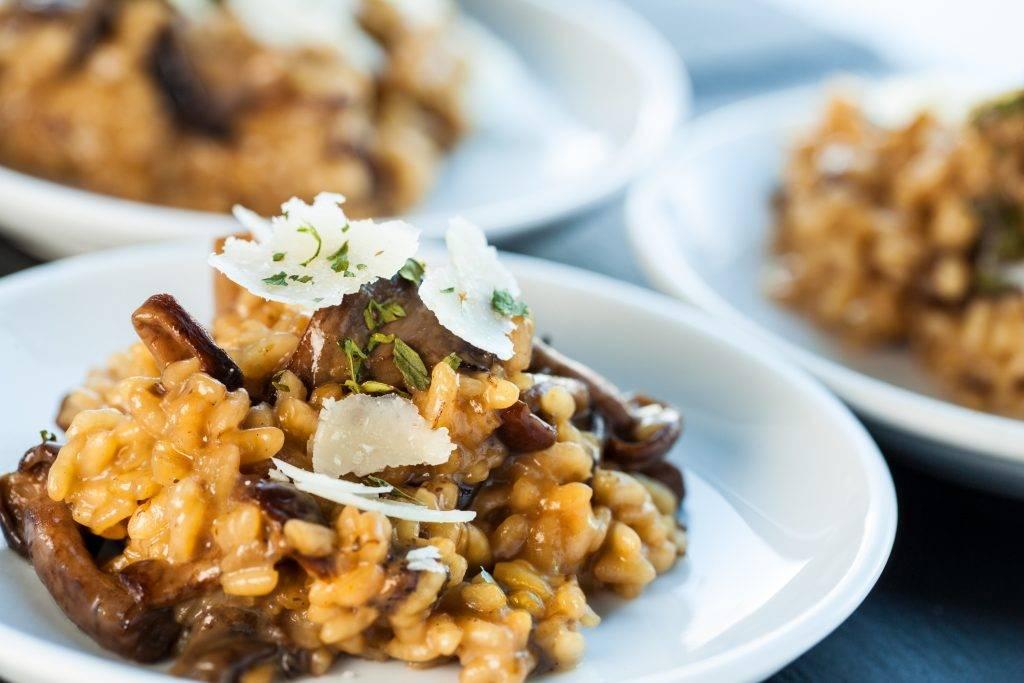 risotto funghi e salsiccia
