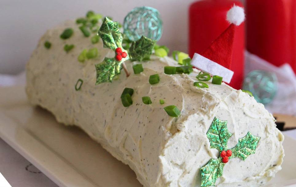 Ricetta Tronchetto Di Natale Salato.Tronchetto Di Natale Salato Vegetariano Un Idea Originale