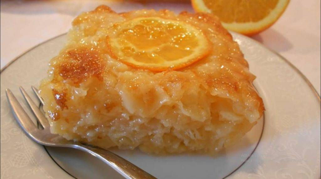 Torta greca all'arancia
