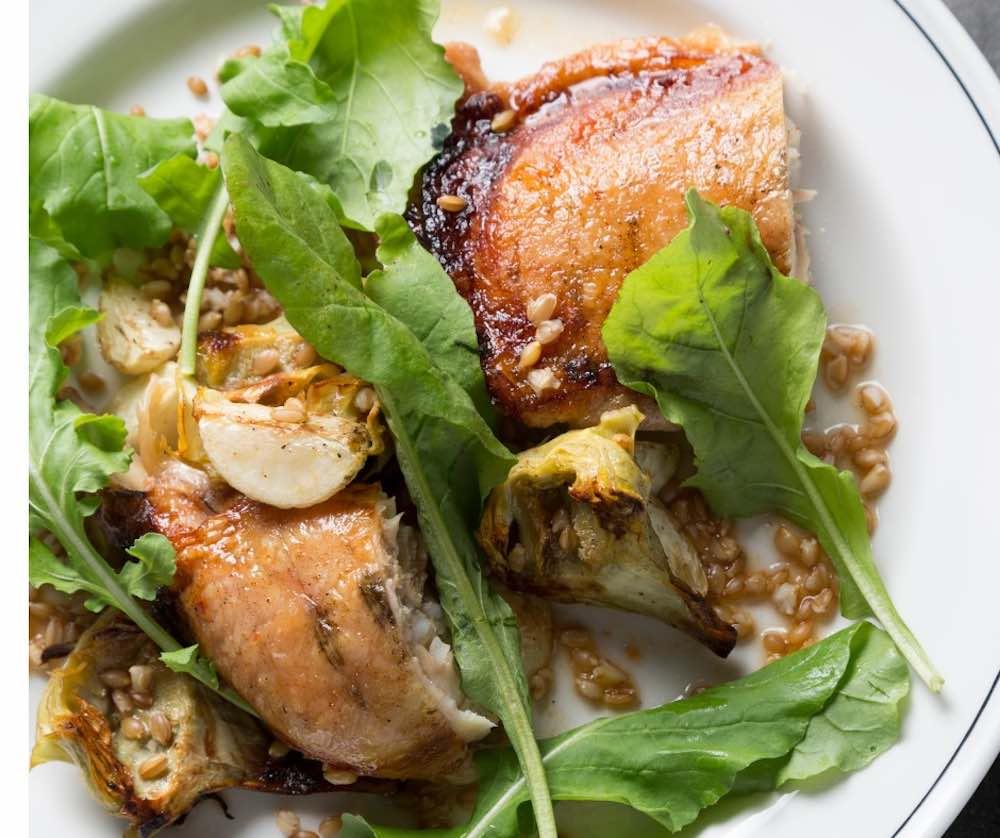 pollo e carciofi in padella