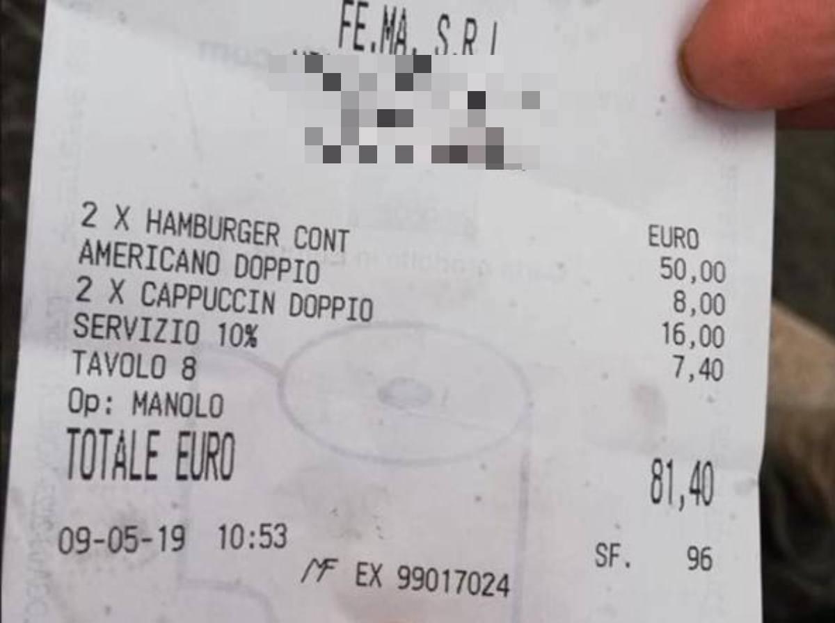 scontrino 81 euro