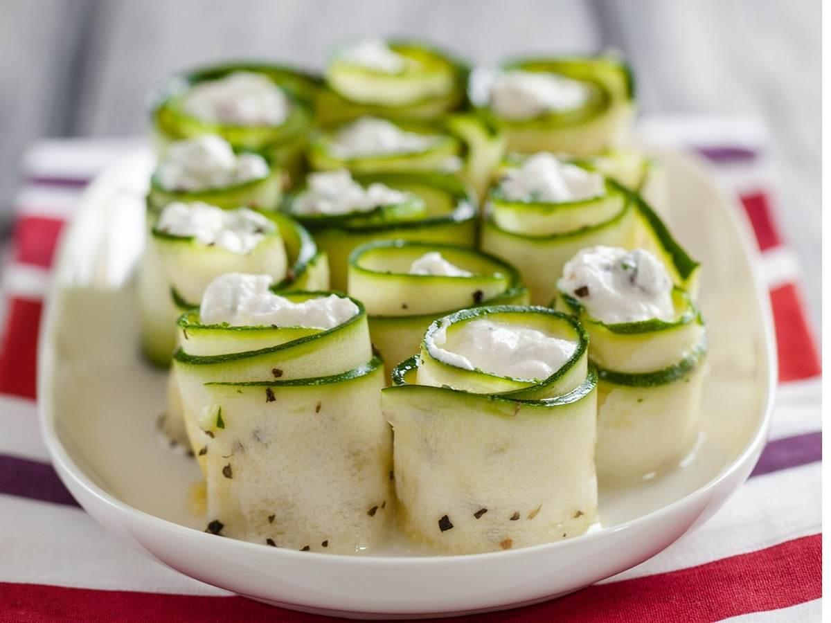 Rotoli di zucchine