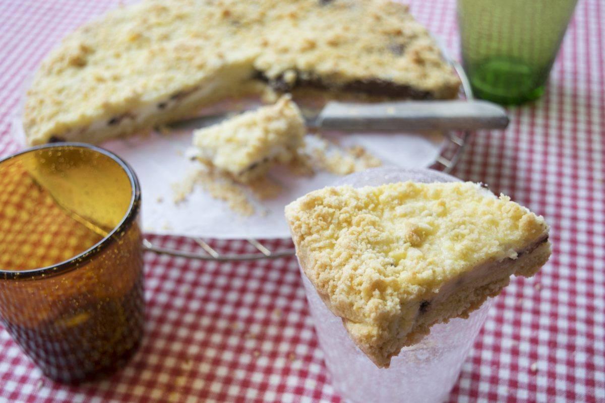 sbriciolata fredda alla ricotta mascarpone e nutella - ricettasprint.it
