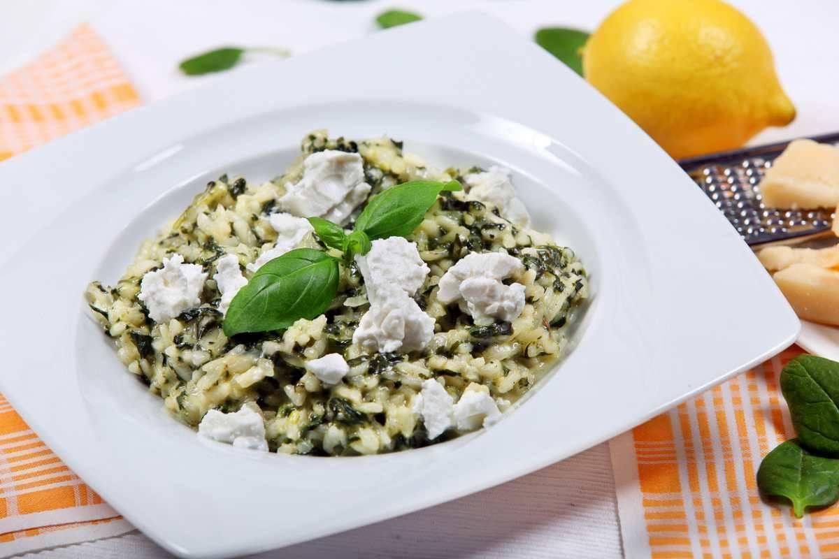 Risotto agli spinaci con ricotta