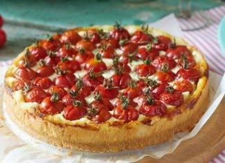 Torta salata pomodori e stracchino