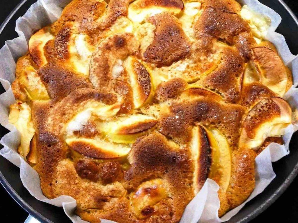 torta di mele in padella