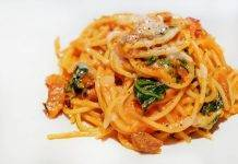 Spaghetti al whisky e pancetta