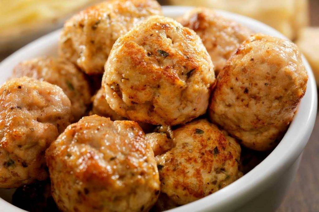 Polpette di pollo con zucchine