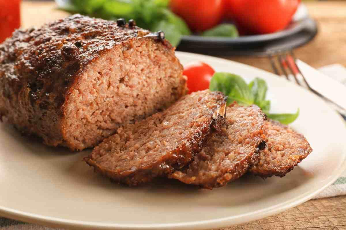 Polpettone di carne macinata e mortadella