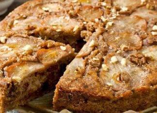 Torta pere e noci
