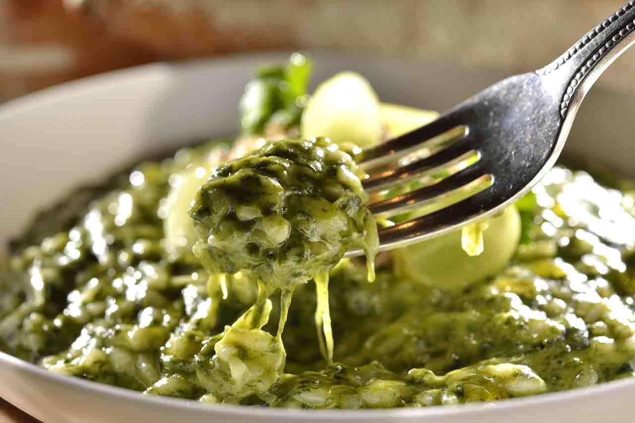risotto con spinaci e curcuma ricettasprint