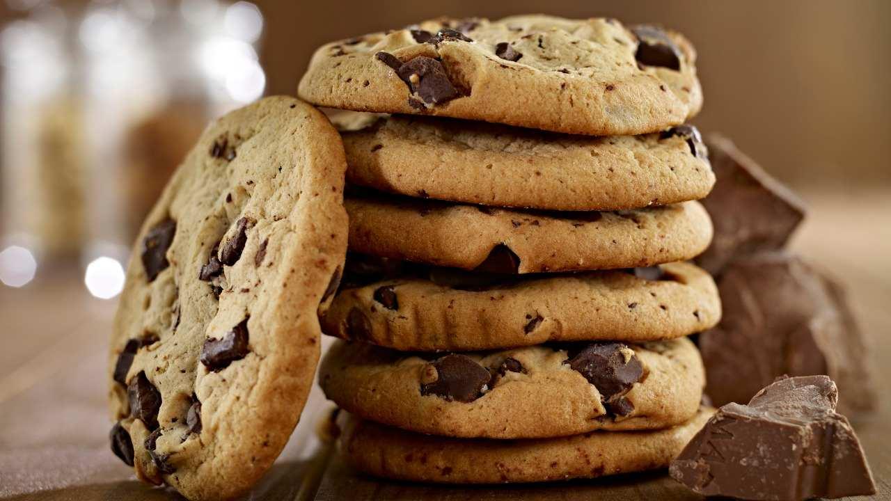 Biscotti alla cannella con gocce di cioccolato