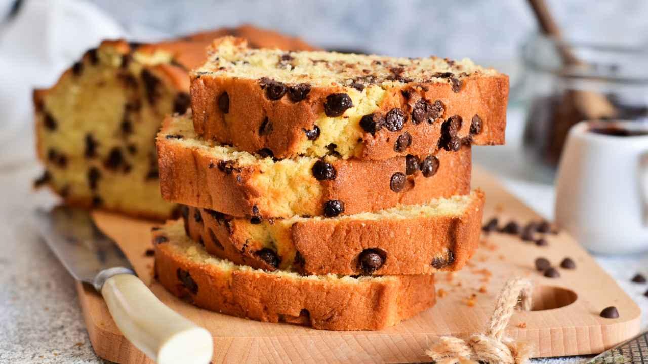 torta di banane con gocce di cioccolato - ricettasprint