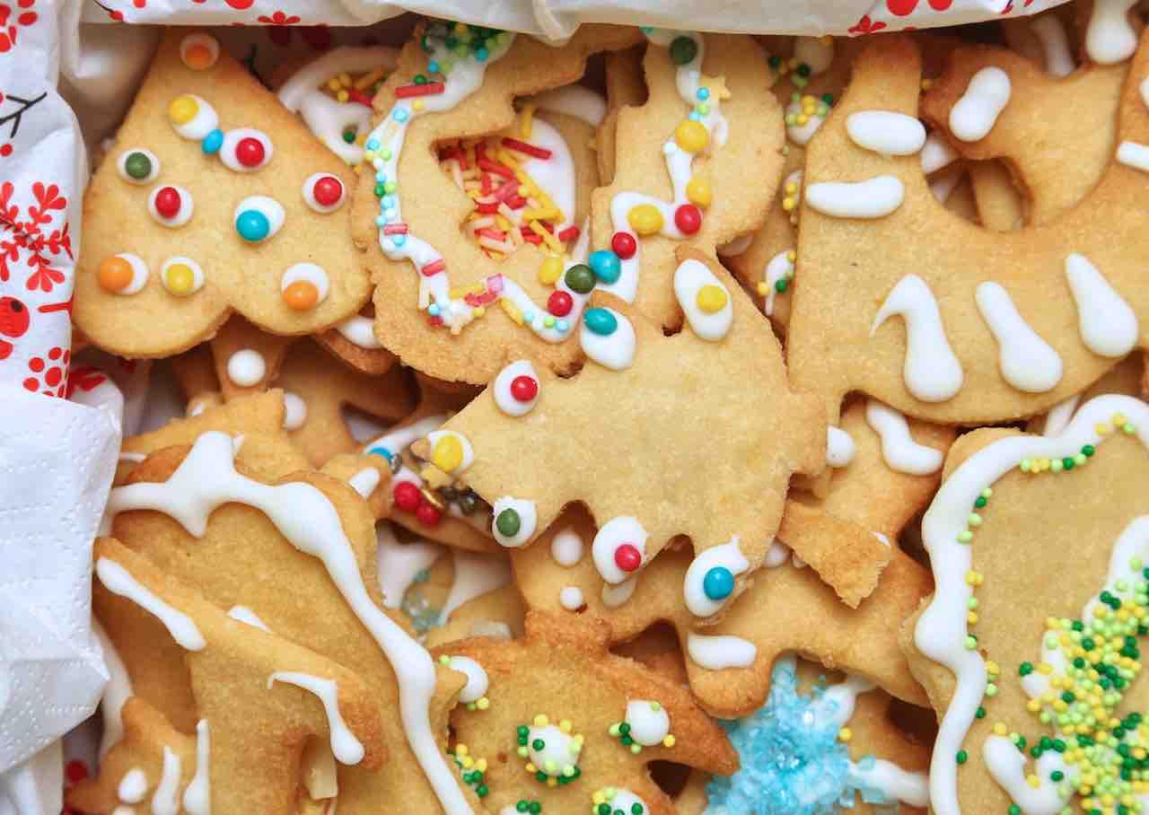 Biscotti friabili natalizi al burro