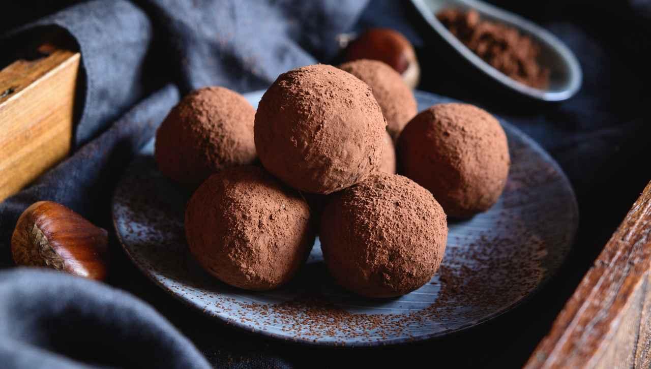 bocconcini di cioccolato e castagne - ricettasprint