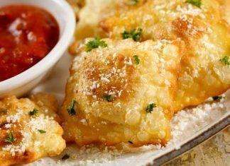 Ravioli di spinaci fritti