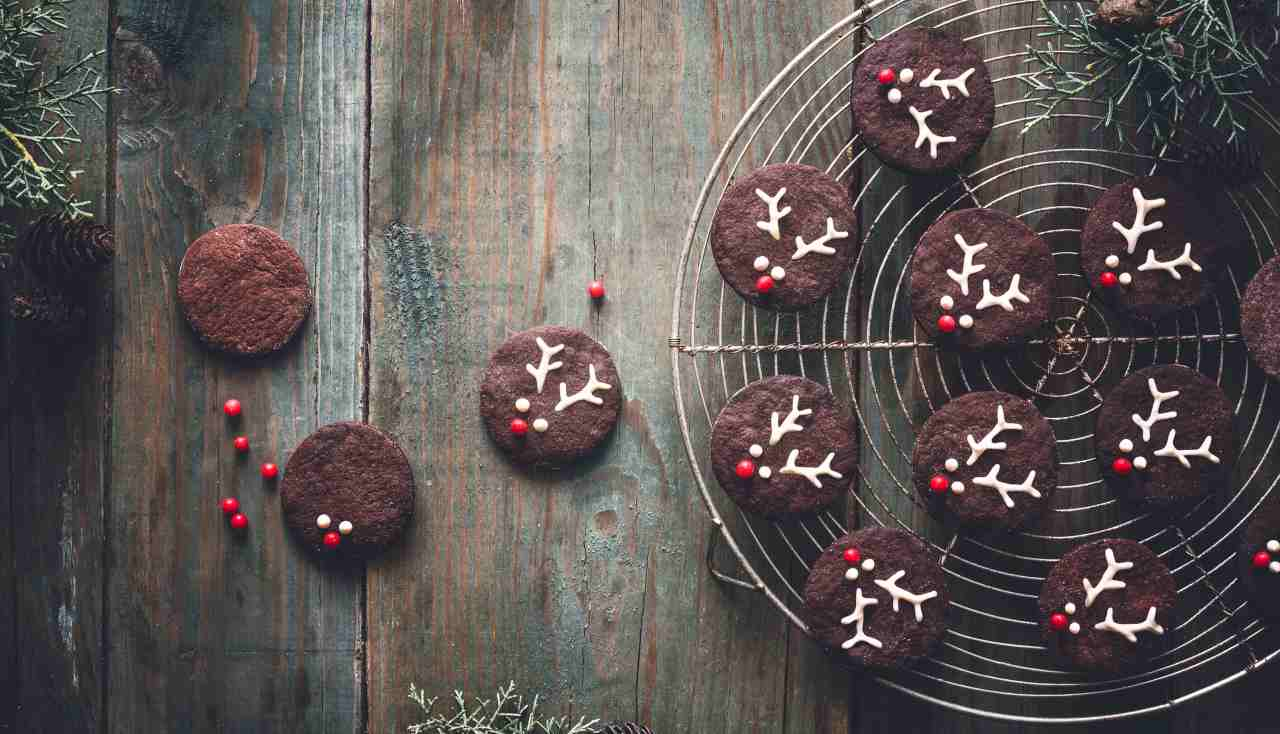Biscotti natalizi renna al cacao - ricettasprint