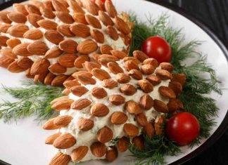 Contorno facile Natale Insalata russa riccio - ricettasprint