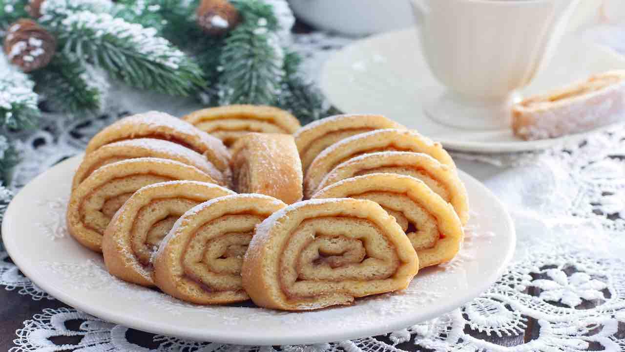 pasta biscotto per tronchetto di Natale