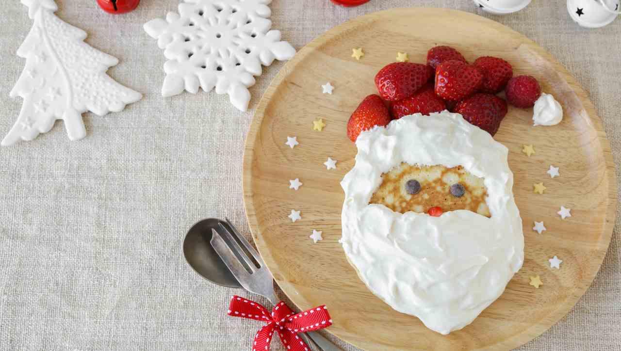 Ricette veloci di Natale Pancake facilissimi Babbo Natale - ricettasprint