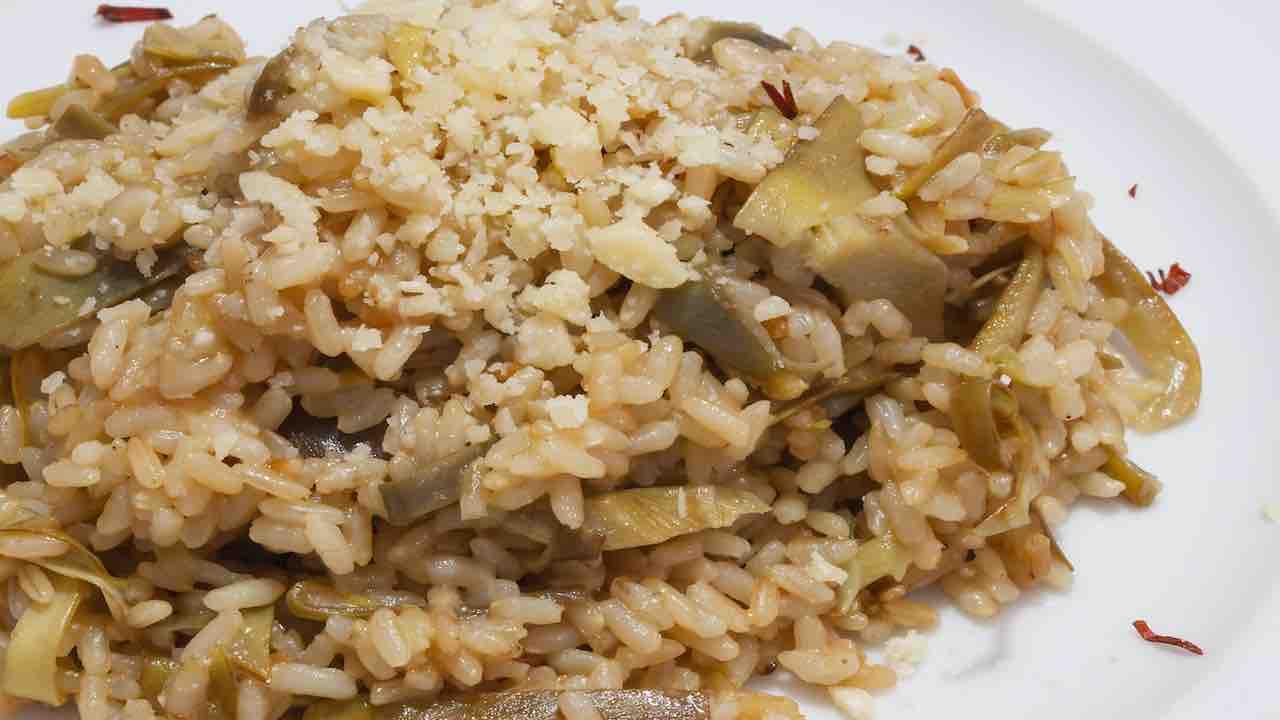 riso carciofi e prosciutto
