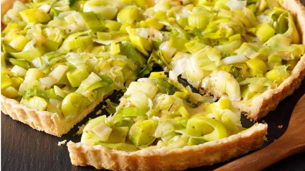 Torta salata con porri e patate