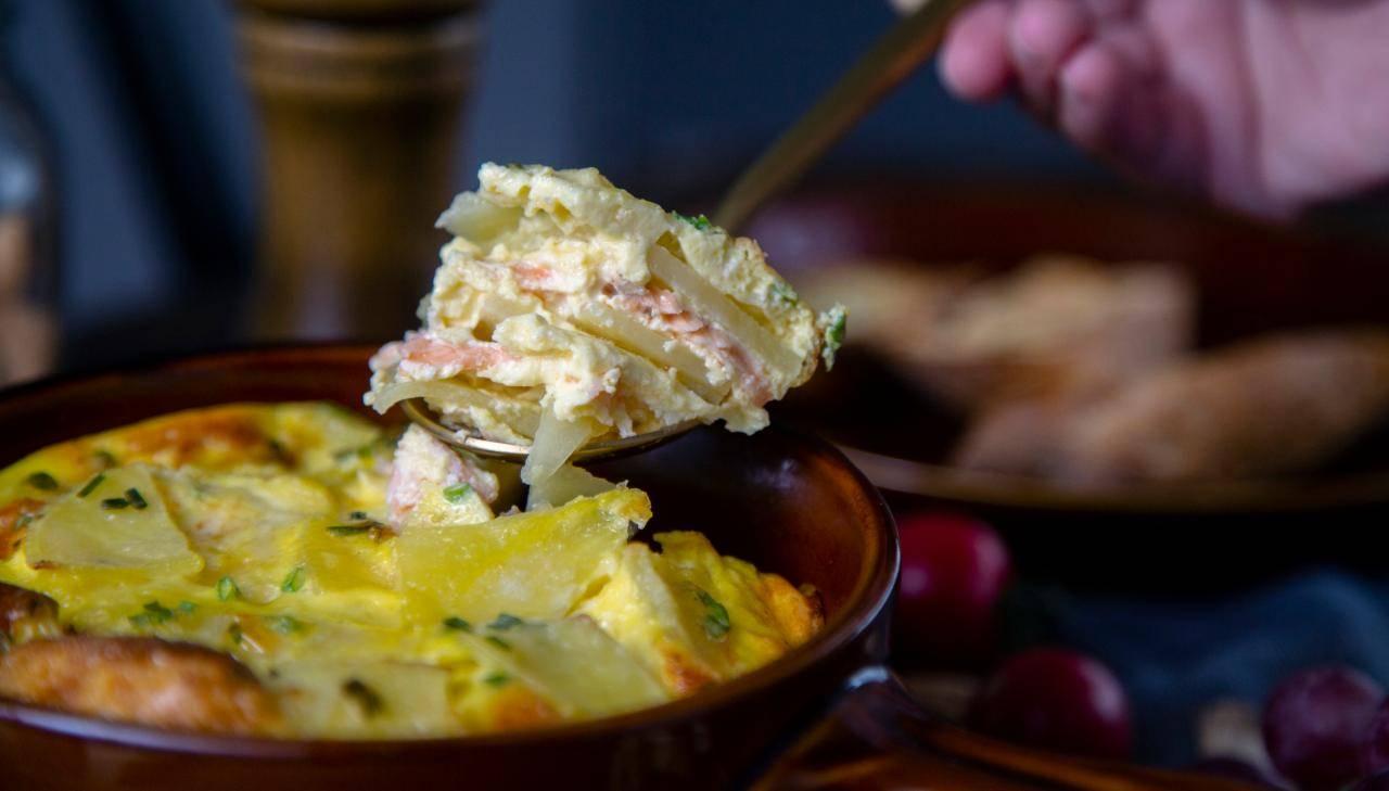 tortino di patate e salmone - ricettasprint