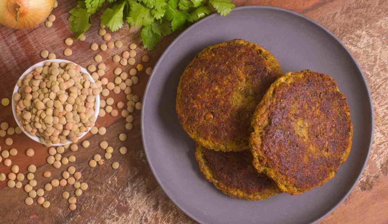 Hamburger di lenticchie - ricettasprint