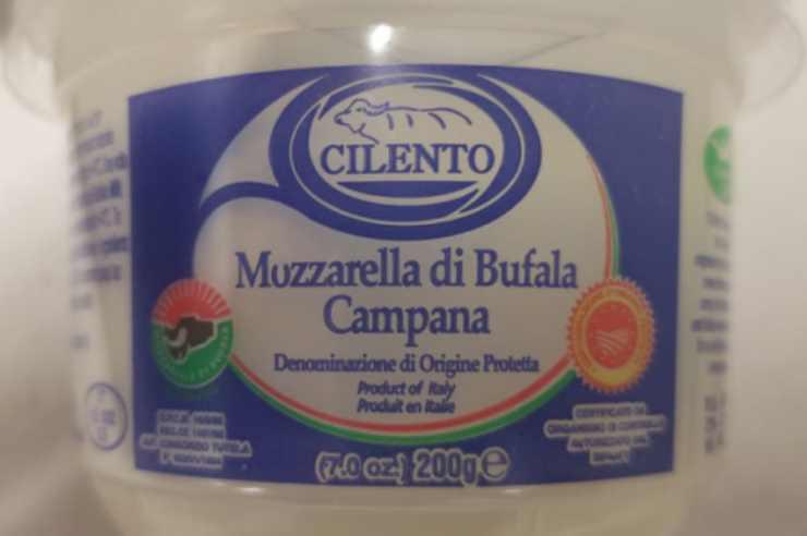 Richiamo mozzarella di bufala campana info - ricettasprint