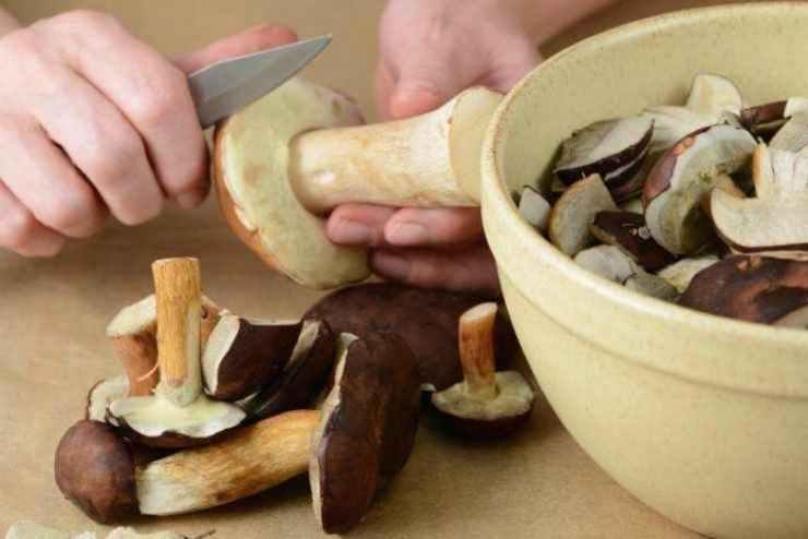 Risotto funghi e gamberetti - ricettasprint