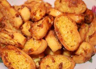 Tagliatelle dolci fritte all'arancia - ricettasprint