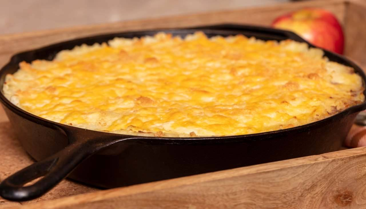Torta di patate prosciutto e mozzarella in padella - ricettasprint