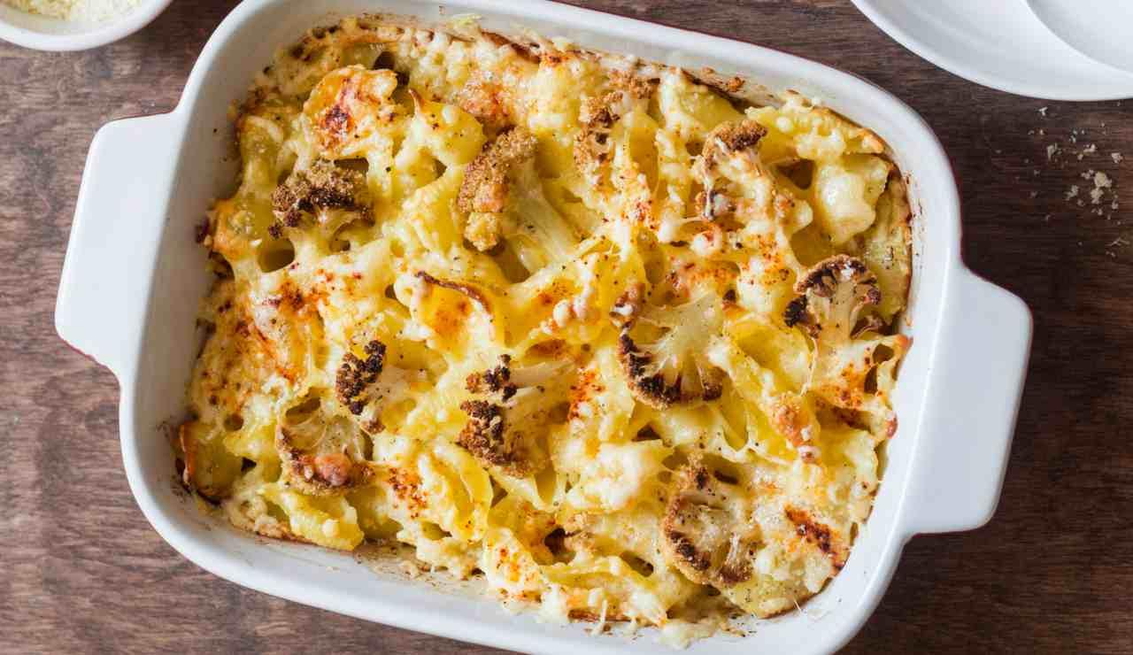 cavolfiore con mozzarella al forno - ricettasprint