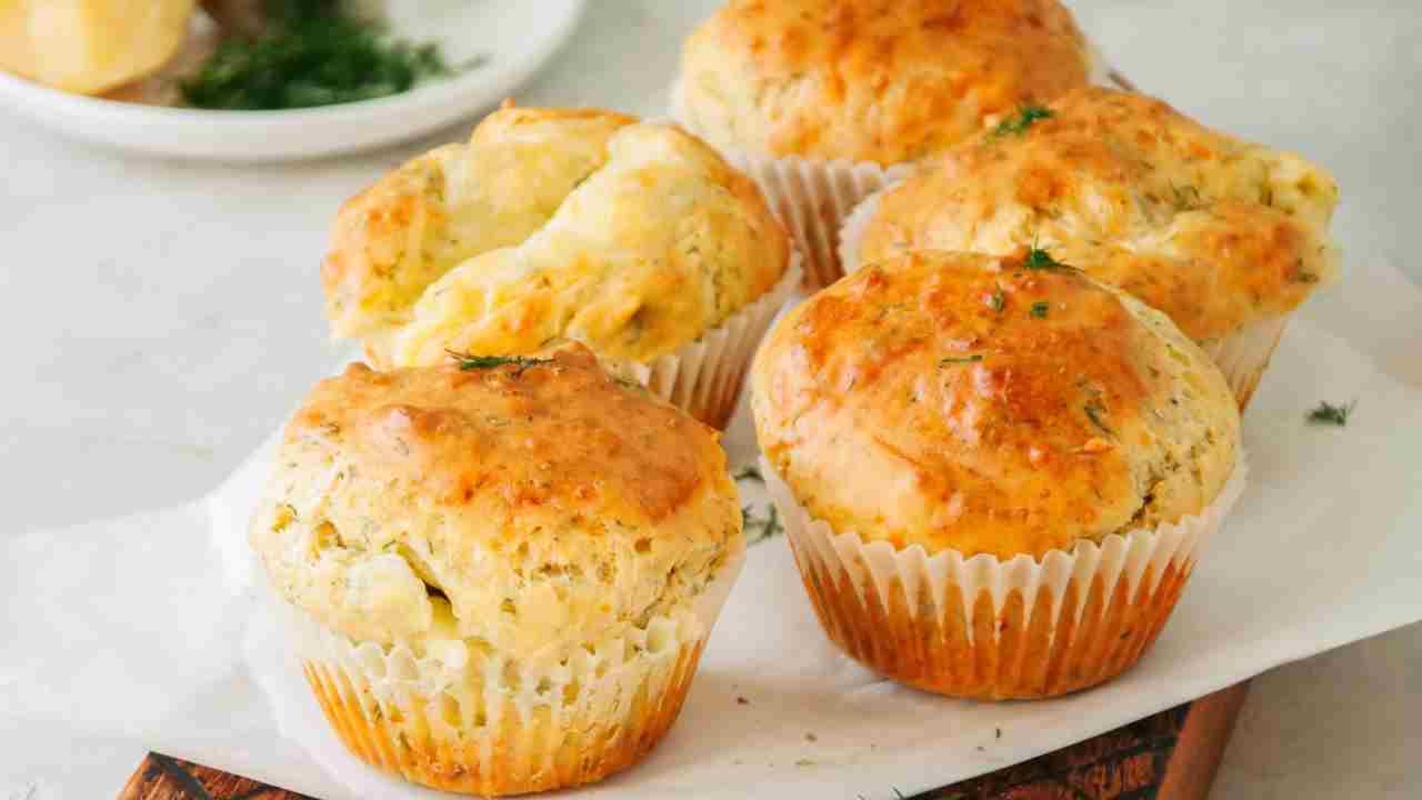 Muffin al gorgonzola e timo