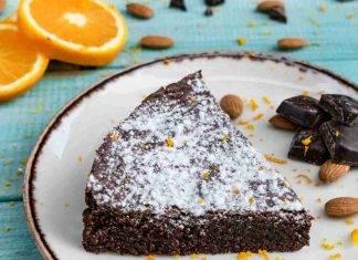 Torta caprese arance e cioccolato fondente