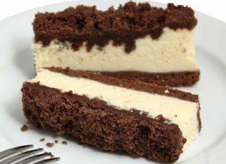 Torta versata al cacao