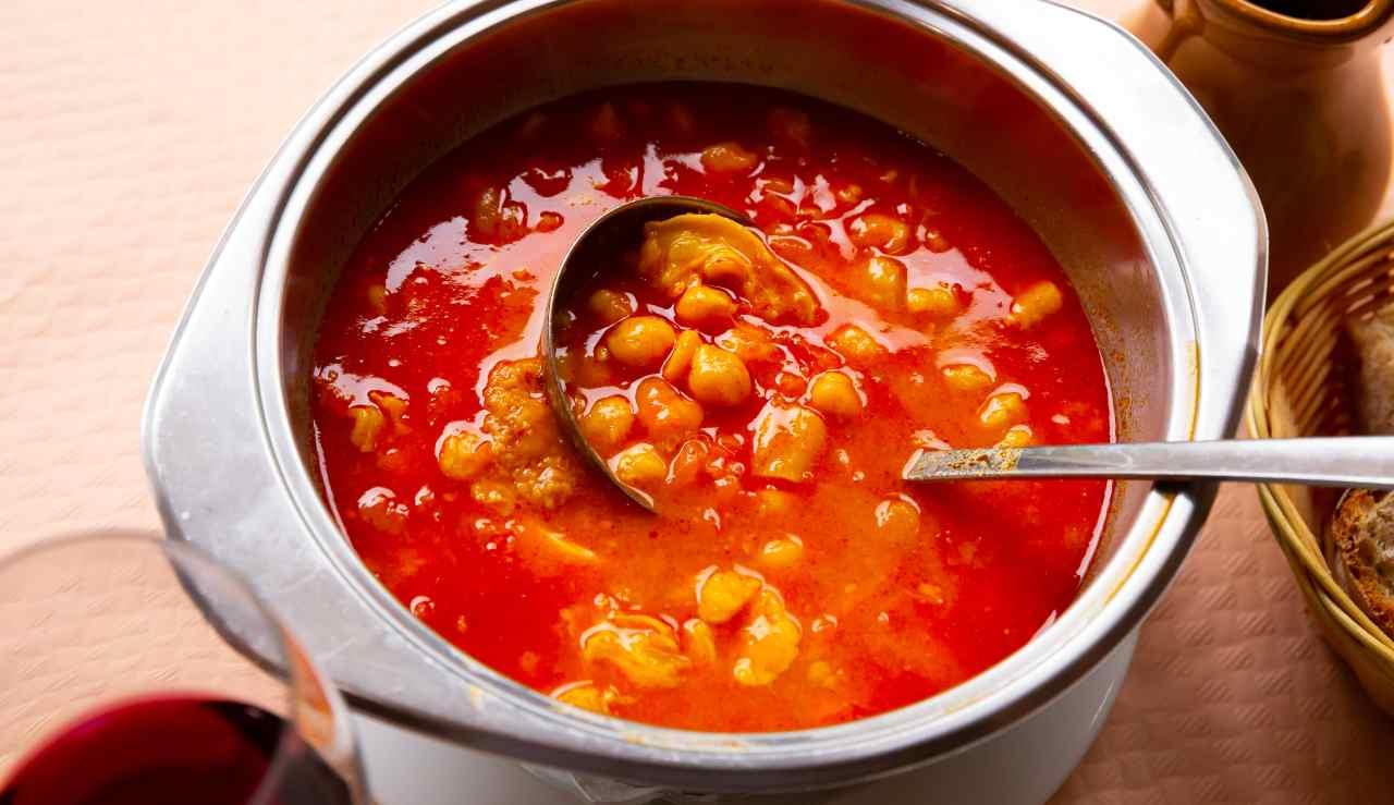 Zuppa piccante di ceci con carne - ricettasprint