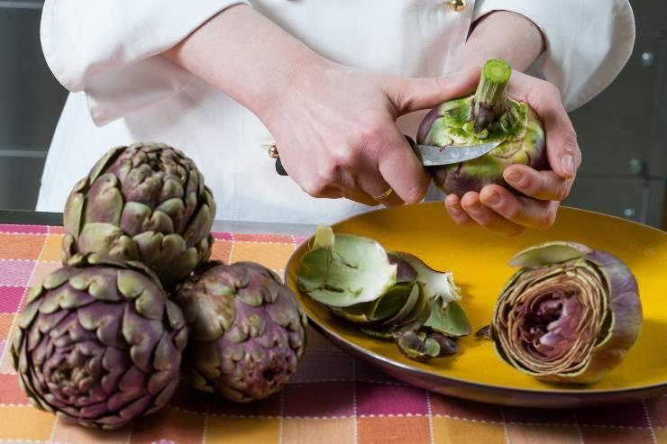maccheroni con carciofi e crema di pecorino - ricettasprint