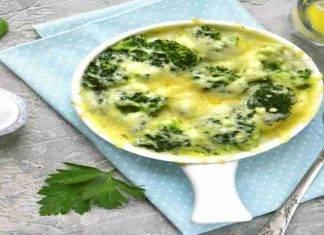 Broccoli al forno con mozzarella