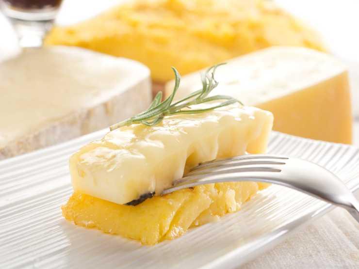 Polenta grigliata e formaggio