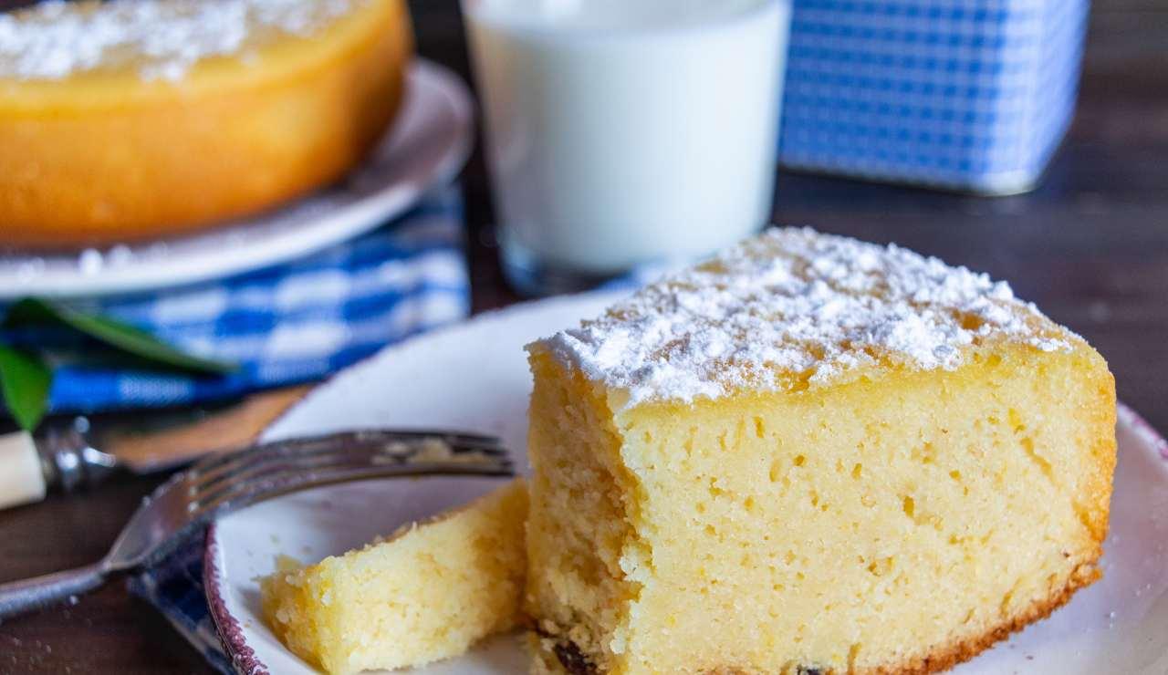 Torta al latte caldo - ricettasprint
