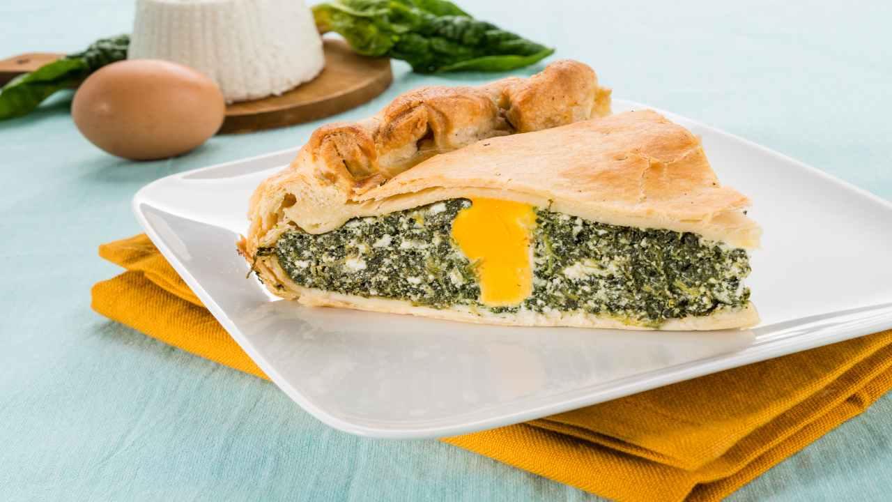 Torta pasqualina con spinaci e ricotta di bufala