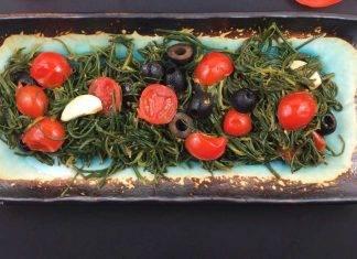agretti con pomodori secchi e olive - ricettasprint