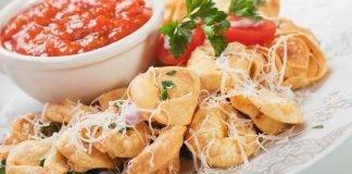 Tortellini fritti con formaggio
