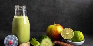Frullato di mela cetriolo e zenzero