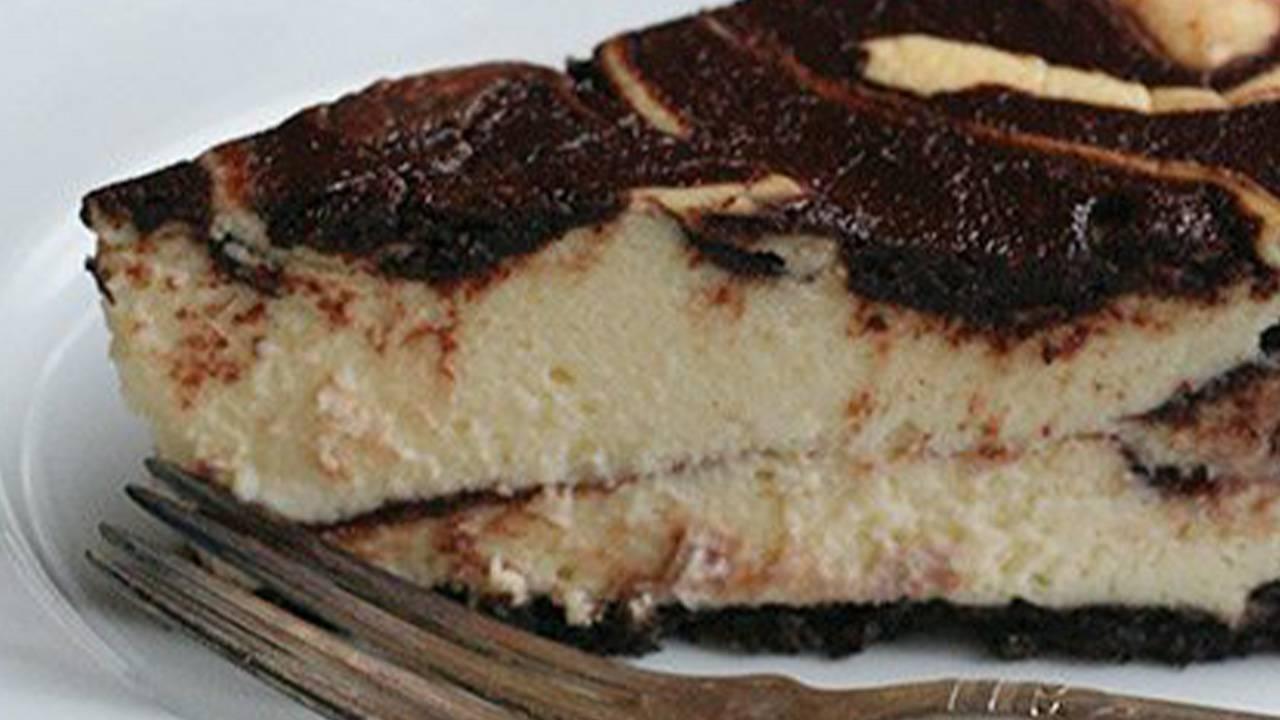 Cheesecake variegata alla nutella